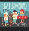 skateboarding poster vector image vector image