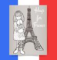 Sketch condolences for France poster vector image vector image