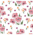 summer light composition with delicate pink poppie vector image vector image