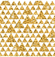 Triangle seamless pattern white and gold 1 vector image vector image
