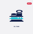two color oil tank icon from industry concept vector image vector image
