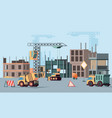 urban building construction stages big vector image vector image