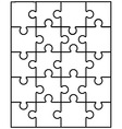 white puzzle 10 vector image vector image