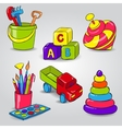 Set of Childrens Toys vector image