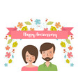 anniversary postcard in flat style vector image