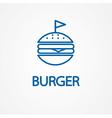 Fastfood sign for cafe or restaurant Burger or vector image