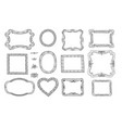 set of cute frame victorian ornaments photo vector image