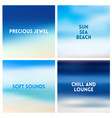 abstract beach blurred background set 4 vector image vector image