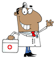 African American Doctor Man vector image vector image