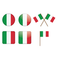 badges with Italian flag vector image