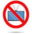 Ban TV icon vector image vector image
