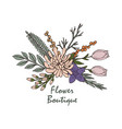 beautiful flower boutique logo emblem vector image vector image