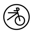bicycle icon - iconic design vector image vector image