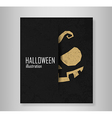 Book Halloween Typographical Background vector image
