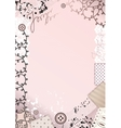 Border with lace vector image
