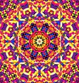 bright circular kaleidoscope pattern vector image vector image