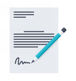 Business contract and pencil vector image vector image