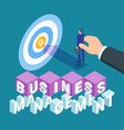 business management concept vector image