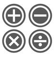 calculator icon set simple vector image