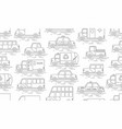 car seamless pattern linear style vector image vector image