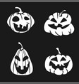 cartoon halloween pumpkin face icon vector image