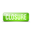 closure green square 3d realistic isolated web vector image vector image