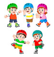 collection children playing vector image vector image