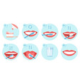 collection clean teeths images dental vector image vector image
