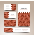 Construction business card set vector image vector image