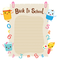 Education Characters On Blank Paper vector image vector image
