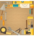 flat design background with do-it-yourself vector image vector image