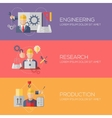 Flat design concepts for engineering research vector image vector image