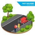 Free delivery Fast delivery Home delivery Free vector image vector image