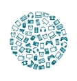 gadget icons in circle vector image vector image