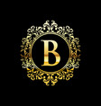 gold luxury logo design vector image vector image