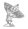 graphic black and white parabolic antenna vector image vector image