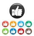 hand excellent icons set color vector image