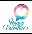happy valentines handwriting lettering heart love vector image