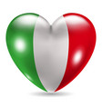 Heart shaped icon with flag of Italy vector image vector image