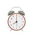 Isolated retro alarm clock vector image