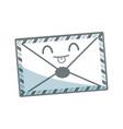 kawaii mail envelope postal stamp letter symbol vector image vector image