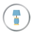 Lamp icon of for web and vector image vector image