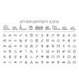 line entertainment icons set on white background vector image vector image