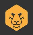 Lion logo Sport mascot Predator lion logotype vector image vector image
