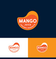 logo mango drop juice label for packaging vector image vector image