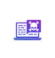 malware security threat in code icon on white vector image