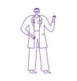 medical staff professional male doctor with mask vector image