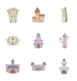 Medieval castle icons set cartoon style vector image vector image