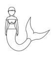 mermaid with hair picked vector image