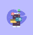 mobile phone payment icon in flat style the vector image vector image